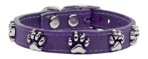 Faux Ostrich Paw Leather Purple 12